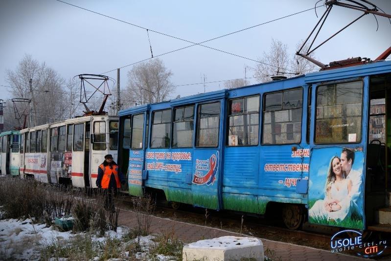 В Усолье трамвай сошел с рельсов