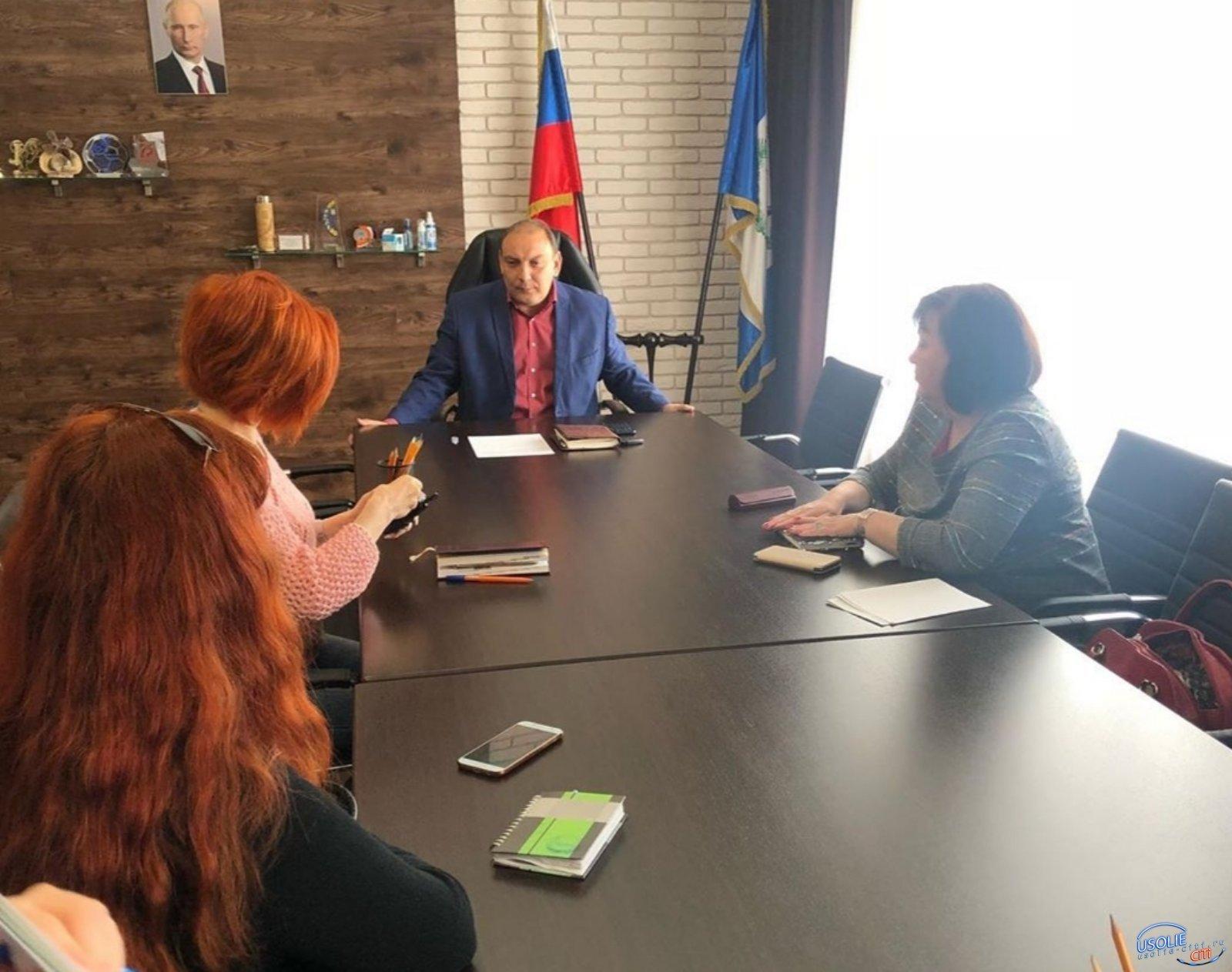 Мэр Усолья рассказал журналистам о коронавирусе и не только...