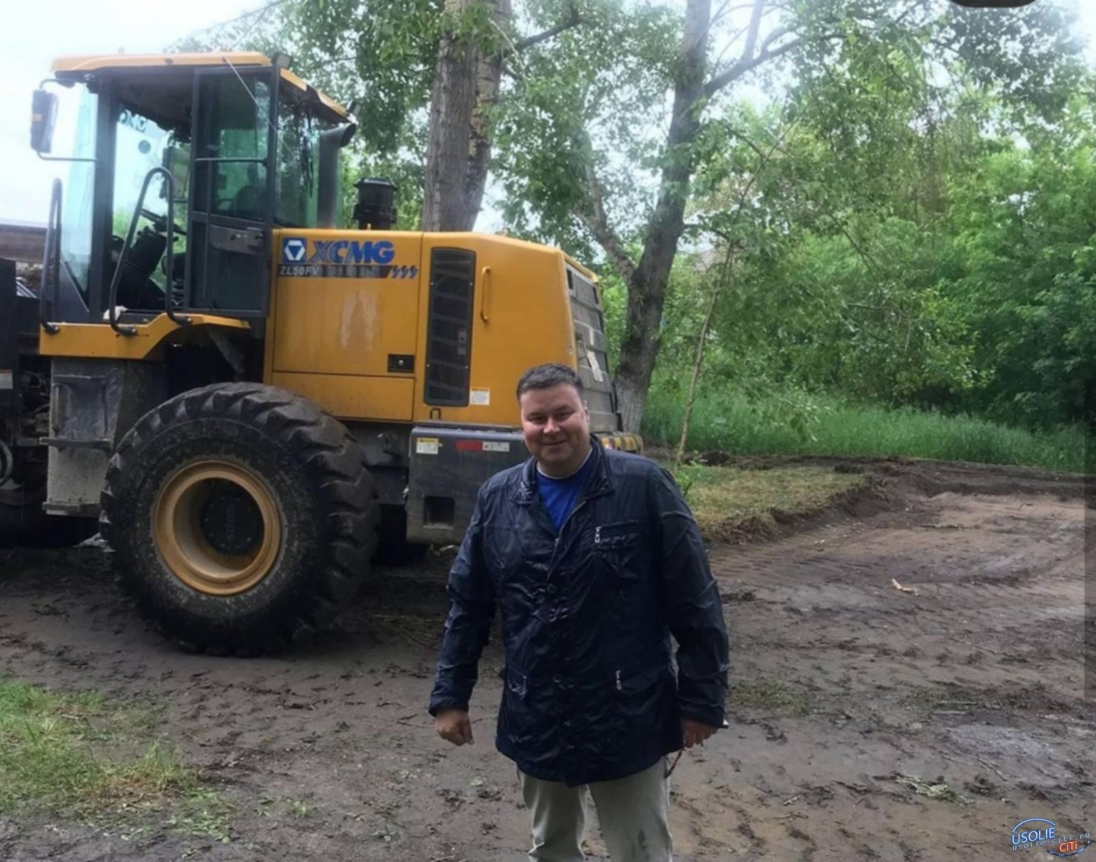 Вадим Кучаров: Работы по установке детской площадки начались