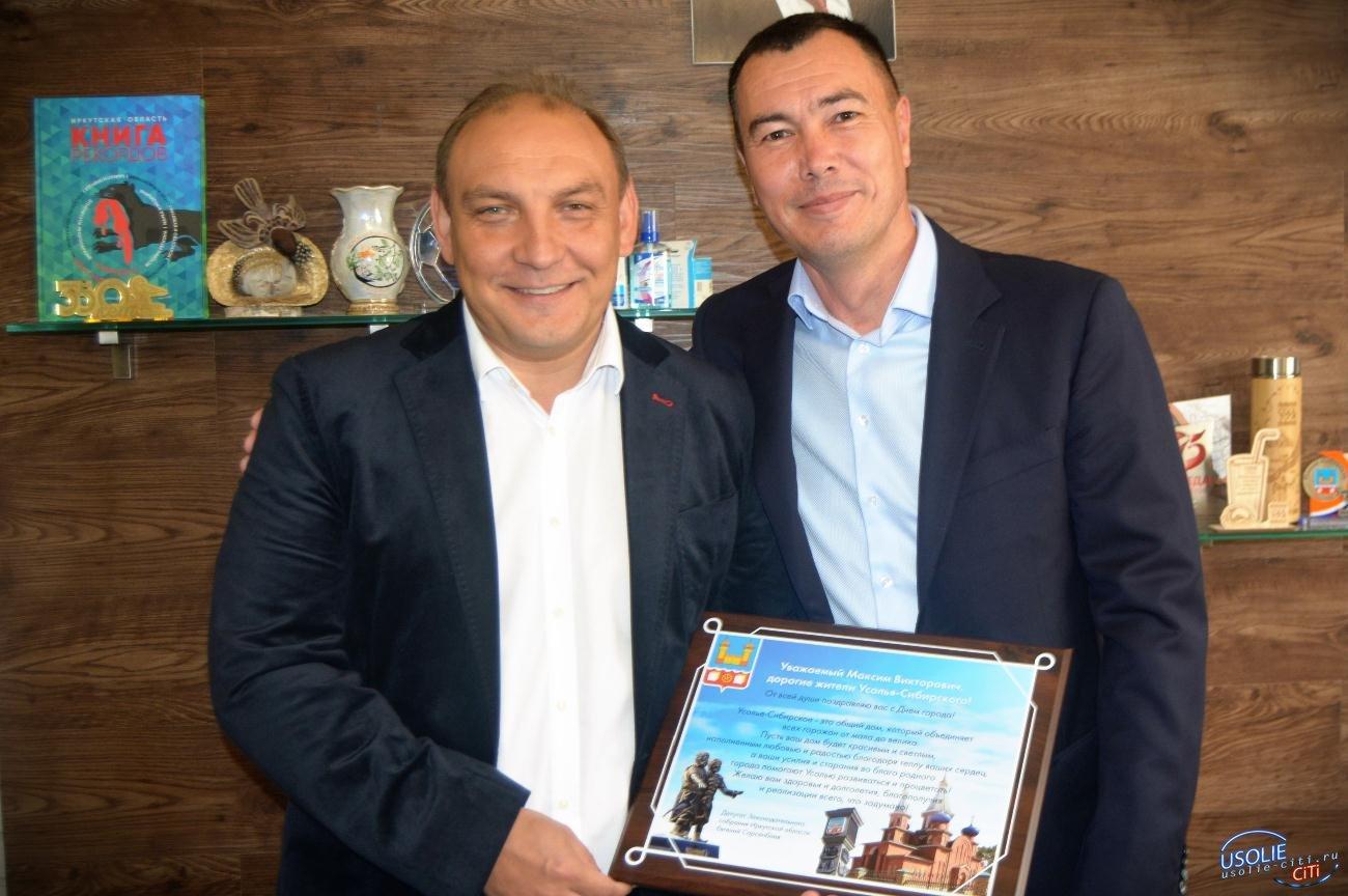 Евгений Сарсенбаев прибыл в Усолье с приятной миссией