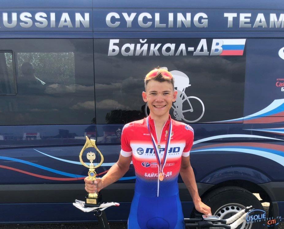 Усольский велогонщик стал бронзовым призером чемпионата России