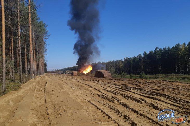 Под Усольем загорелся газопровод «Ангарск-Саянск»