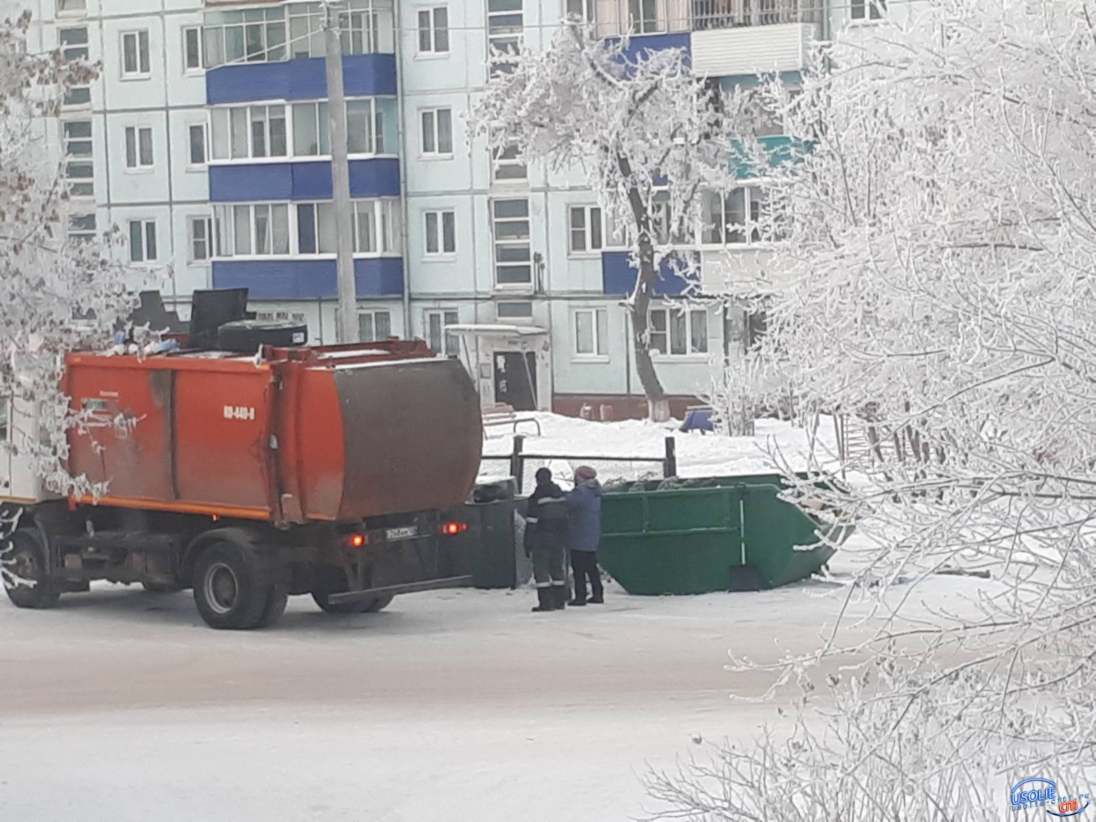 Как в Усолье в новогодние каникулы следят за чистотой