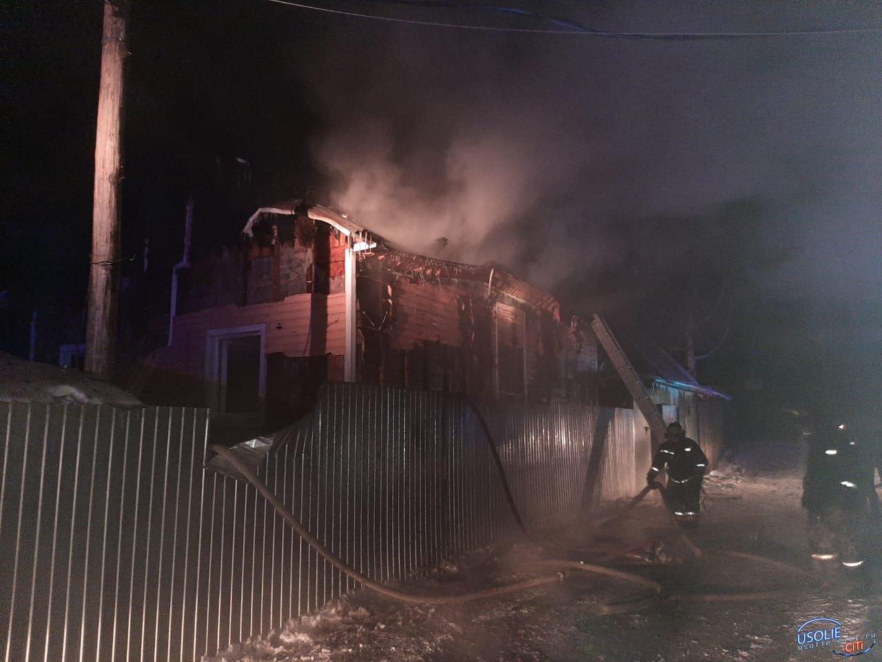 Баня горела Новомальтинске Усольского района