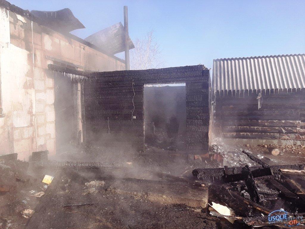 Пожар в Усольском районе. Проводится проверка