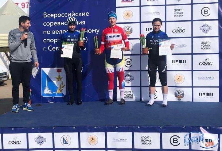 Усольская велогонщица Дарья Бунеева завоевала две золотые медали на всероссийских соревнованиях в Севастополе