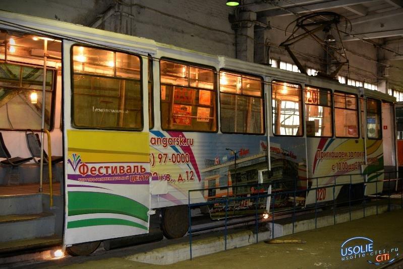 В усольских трамваях установили навигаторы