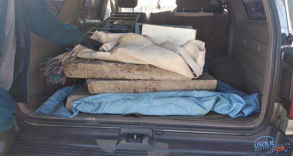 40-летний усольчанин хотел украсть тротуарные плитки возле спортклуба «Сокол»