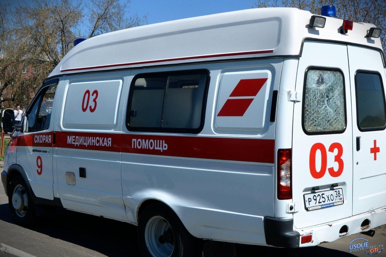 Две иномарки столкнулись в Усольском районе.  Двое в больнице
