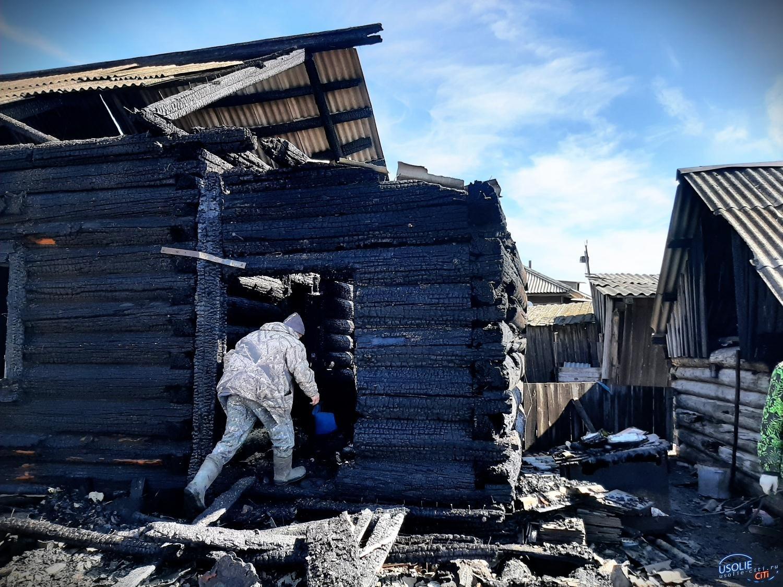 В Усольском районе горели дачные дома