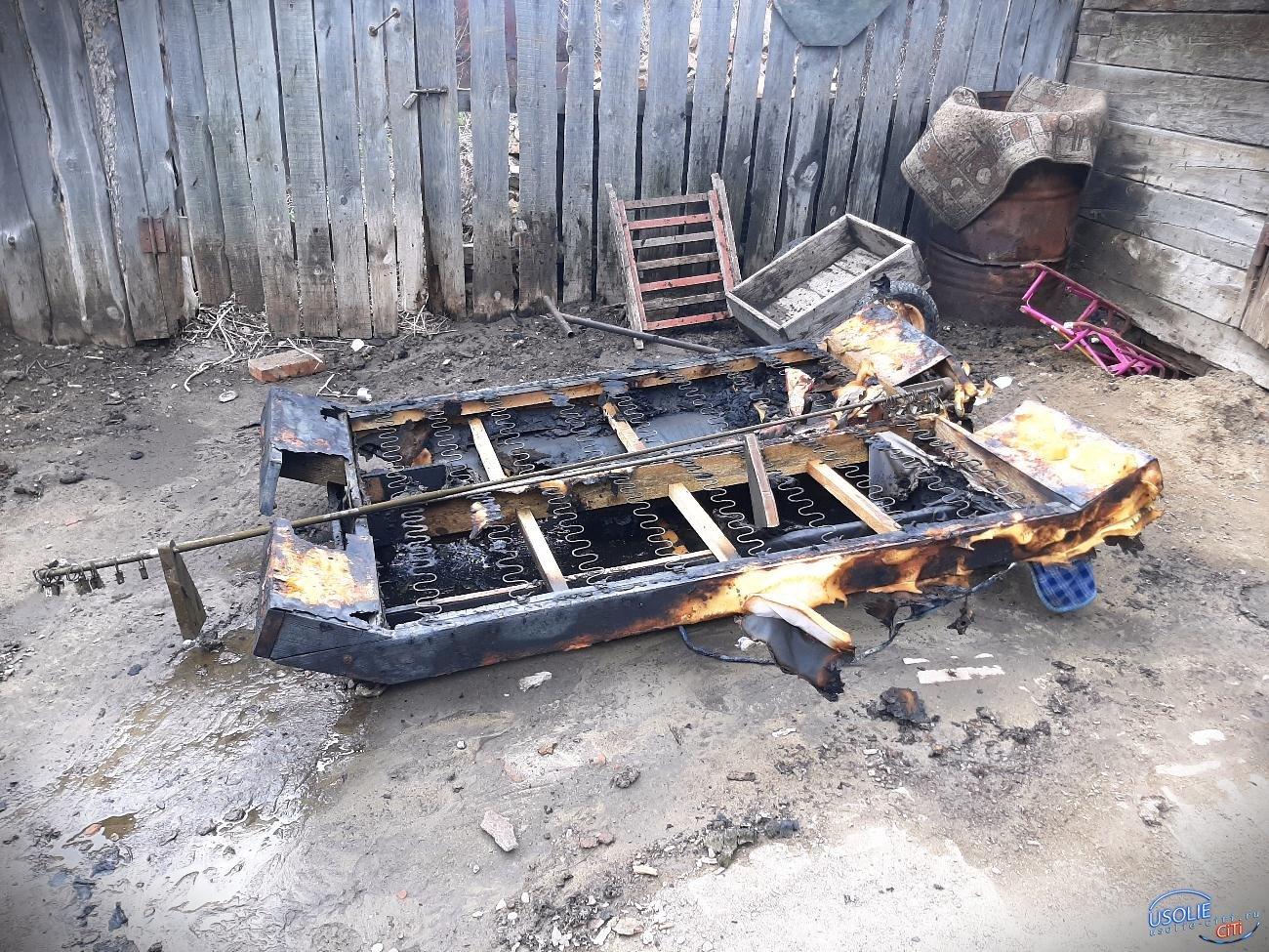 Дом с надворными постройками сгорел в Усольском районе