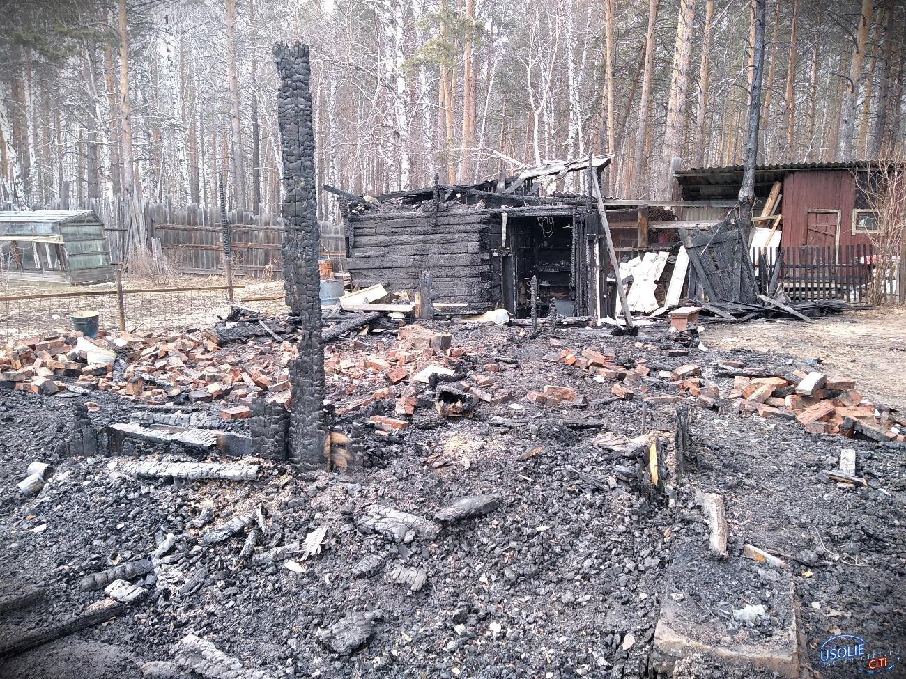 В Усольском районе сгорела баня на даче