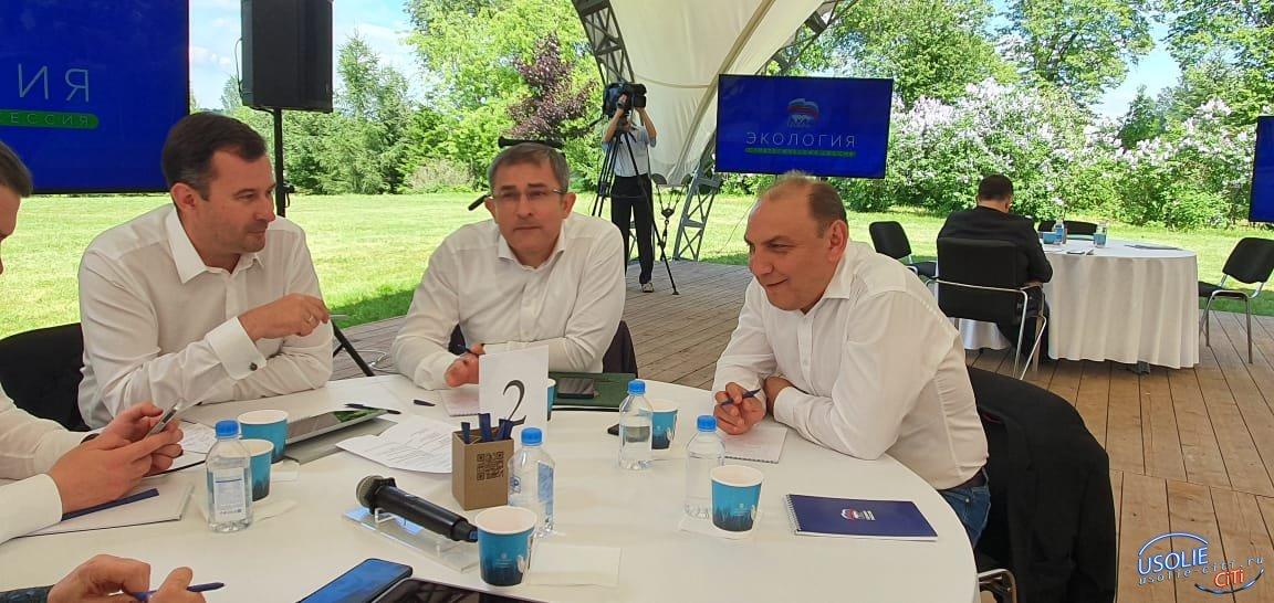 Мэр Усолья встретился с председателем партии «Единая Россия» Дмитрием Медведевым
