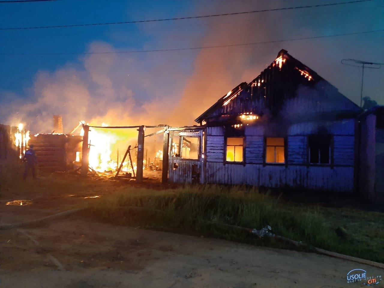 Пожар в Усольском районе оставил без крова семью