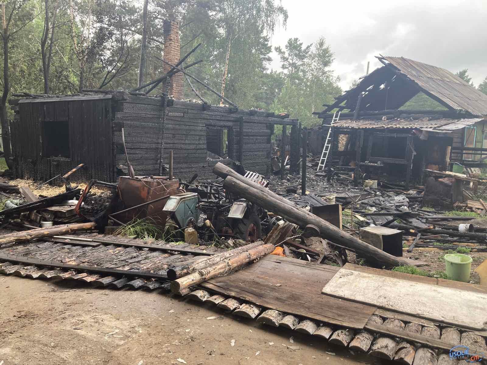 В Усолье сгорел частный дом