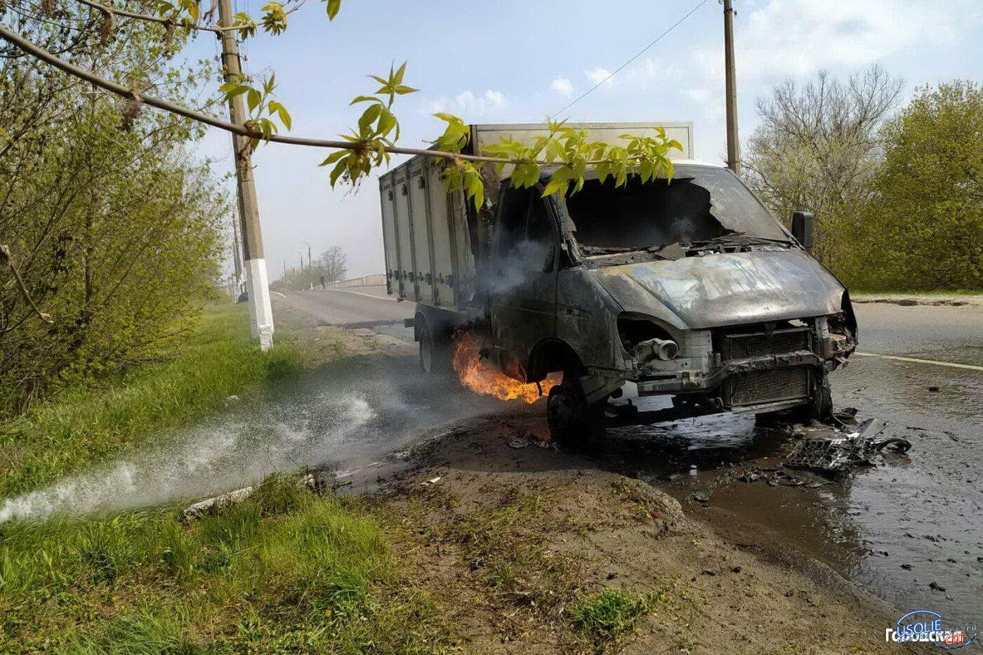 В Усольском районе на трассе горел автомобиль