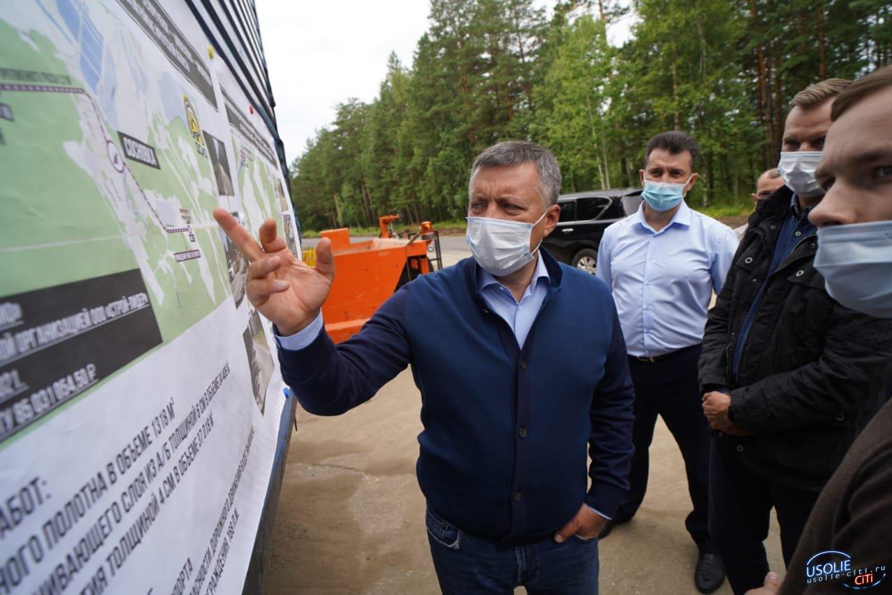 Губернатор прокатился по дорогам Усольского района