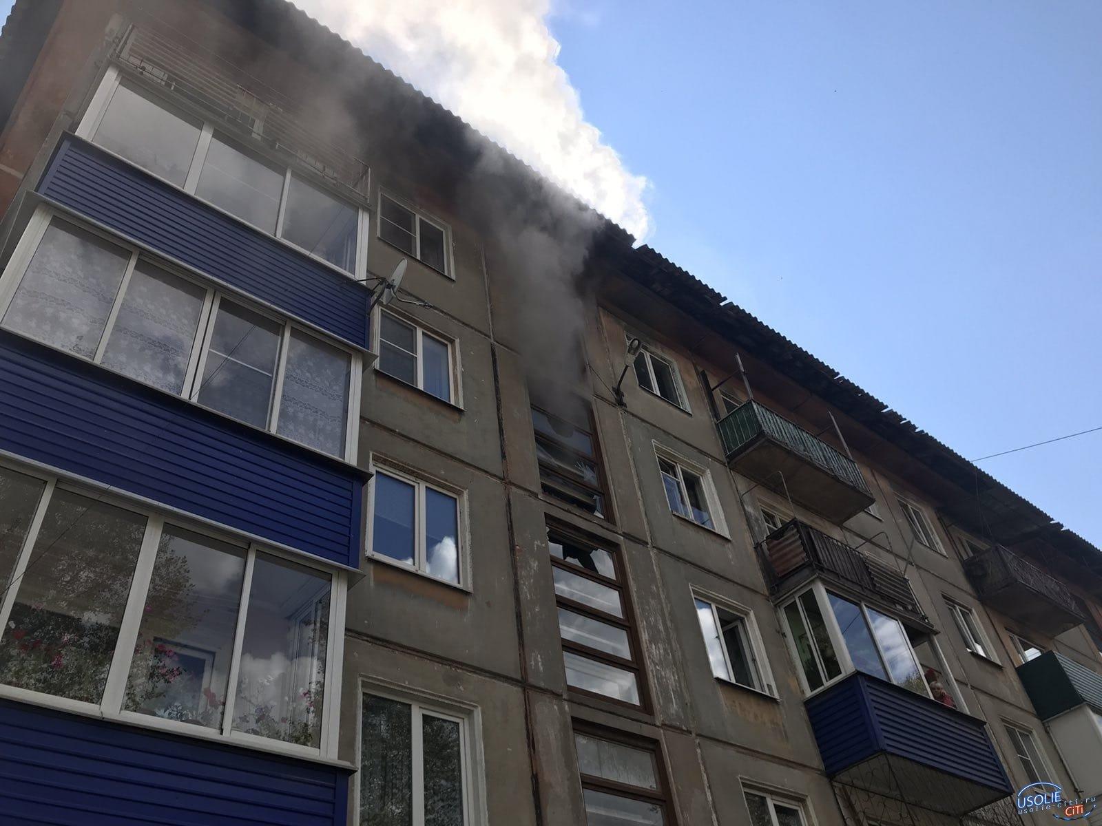 В Усолье пожарные спасли десять человек
