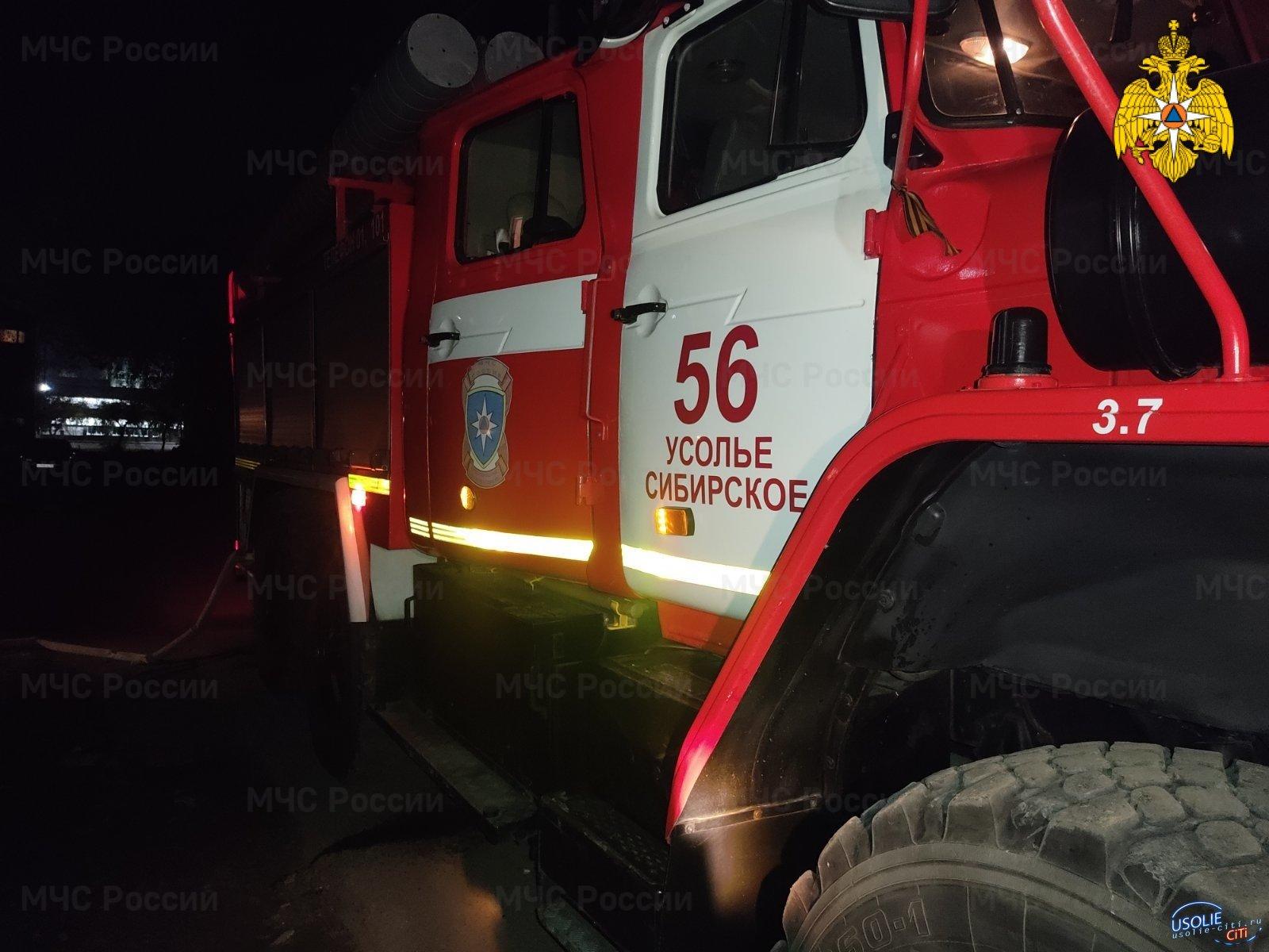 В Усольском районе злоумышленники подожгли постройки