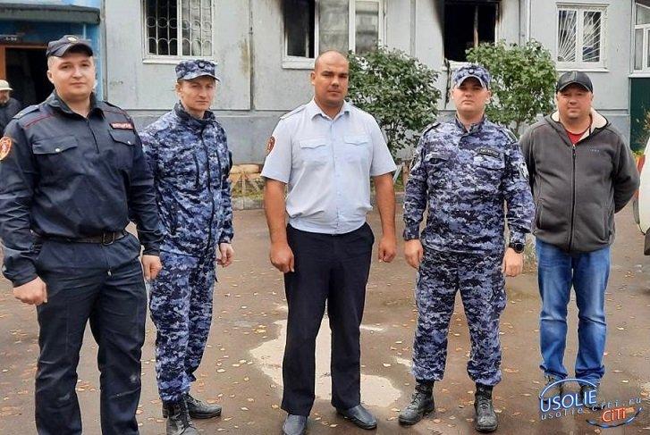 В Усолье росгвардейцы спасли из горящей квартиры мужчину, потерявшего сознание
